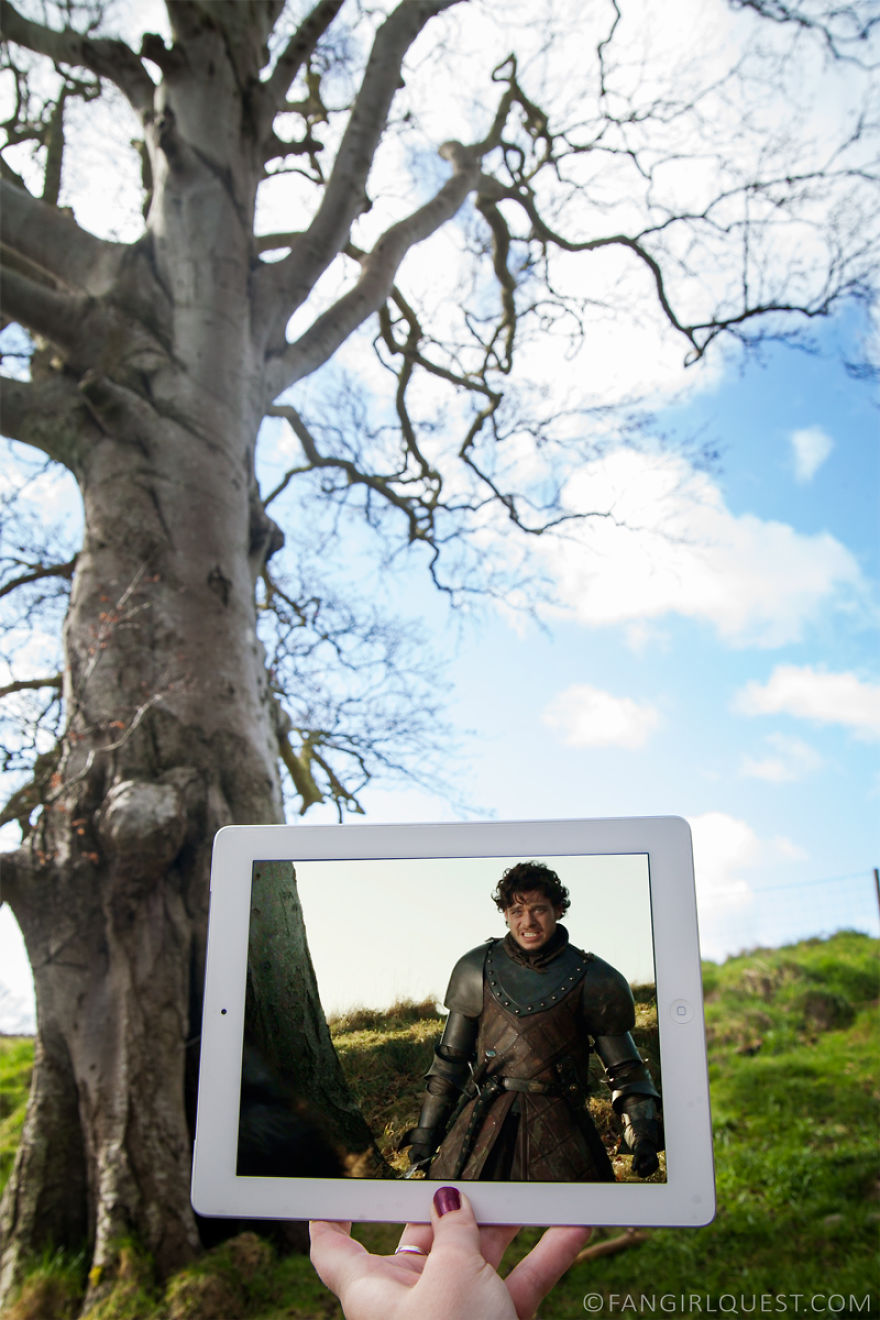 Robb Stark Hears About His Father's Death, Filmed At Inch Abbey In Northern Ireland