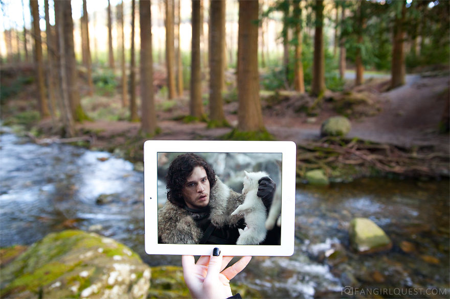 The Starks And The Direwolf Pups In Tollymore Forest Park, Northern Ireland