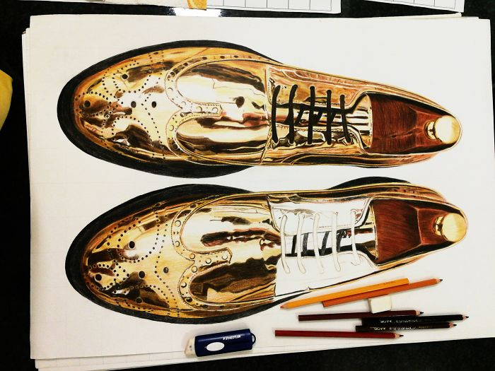 My First Photorealistic Shoes Drawings