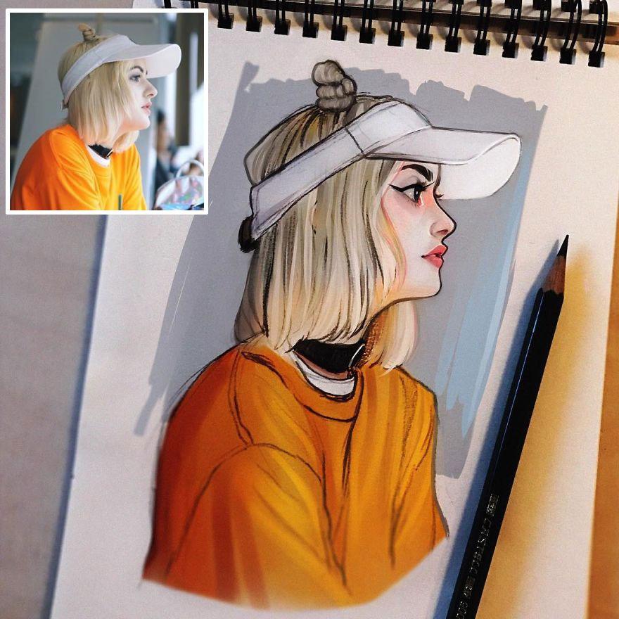 Hollandalı Sanatçı, Kızları Sevimli Çizgi Filmlere Dönüştürüyor Ve Eserleri Milyonlarca Takipçiyi Fetih Ediyor