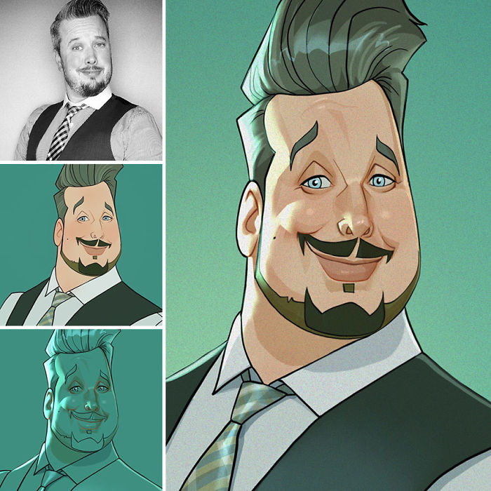 This Artist Continues To Transform Anyone Into Very Cute Cartoons