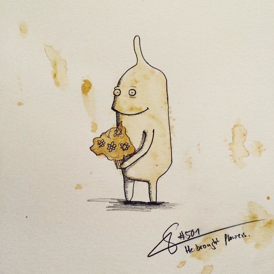 This Artist Imagines Monsters In Any Coffee Stain And The Result Is A Lot Of Fun (New Pics)