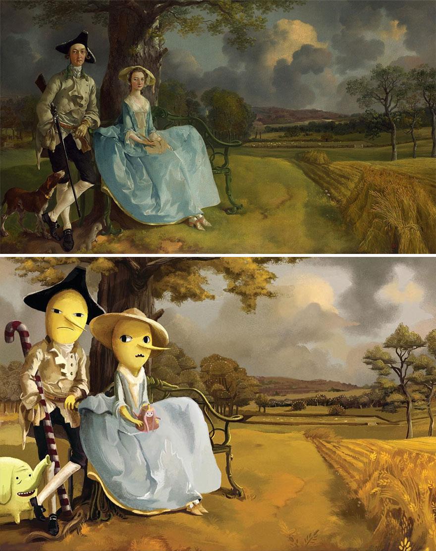 Mr. And Mrs. Andrews (Thomas Gainsborough) As The Earl Of Lemongrab And Lady Lemongrabs