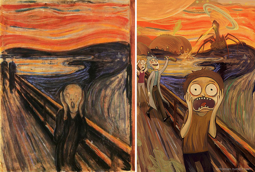 The Scream (Edvard Munch) As Rick And Morty