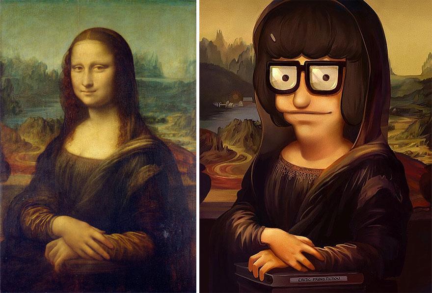 Mona Lisa (Leonardo Da Vinci) As Tina Belcher