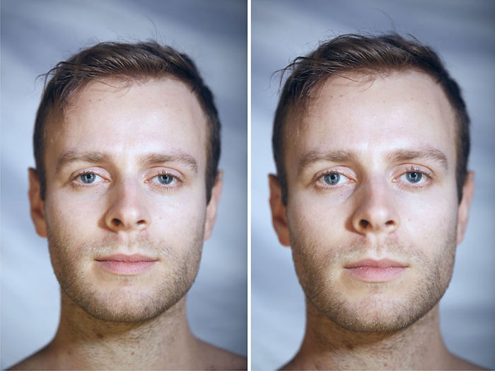 This Photographer Compared The Faces Of People When Posing With Clothes And Naked