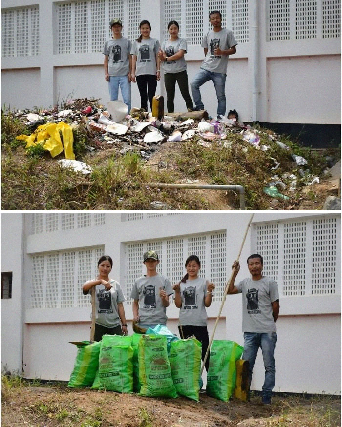 A Catalyst For Social Changedepartment Of Mass Communication, Nagaland University Lumami Carrying Out The Trashcleanchallenge