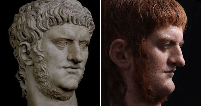Este artista español recrea a famosos emperadores romanos a través de sus esculturas realistas