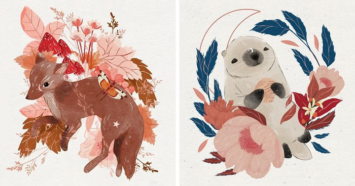 c09b4e8830 I Use Technology To Draw Watercolor Animal Illustrations (30 Pics ...