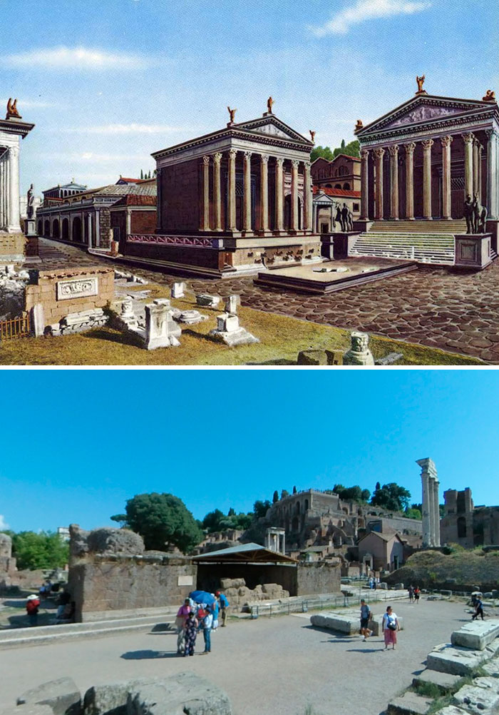 Temple Of Castor And Pollux And Temple Of Caesar