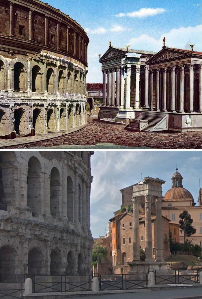 Theatre Of Marcellus, Temple Of Bellona And Temple Of Apollo Sosianus