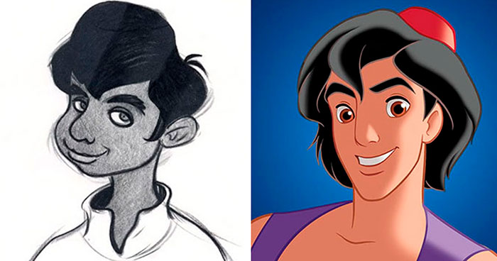 Here's How 25 Disney Characters Looked In Their Original Concept Art