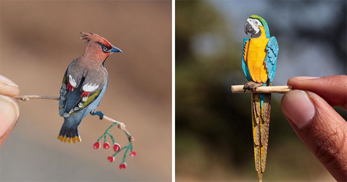 We've Been Creating Miniature Paper Birds Every Day For An Entire Year