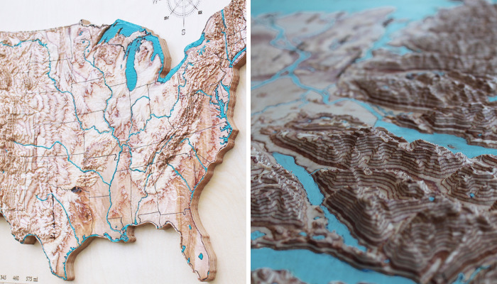 I Cut 3D Maps In Wood To Show How Incredibly Beautiful Our Planet Is