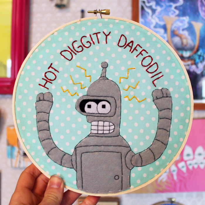 I'm Addicted To Making Embroidery Hoops Of Popular Animated Characters