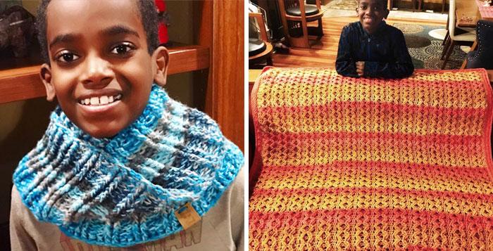 Este niño de 11 años aprendió a hacer ganchillo a los 5 años, y ahora le llaman prodigio