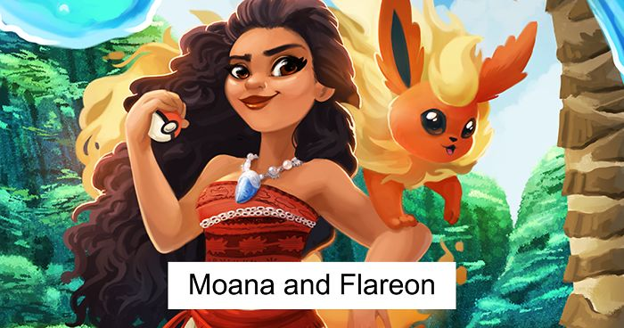 2ba2cb4df97 Artist Draws Disney Princesses Together With Their Eeevee Companions In  This Crossover Art Series