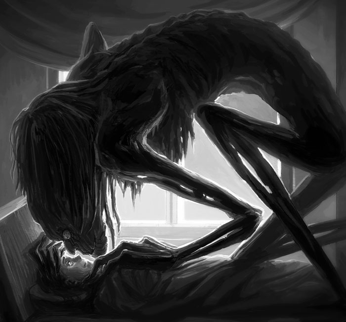 The Horror Of Sleep Paralysis Hallucinations Revealed In 46 Dark Drawings