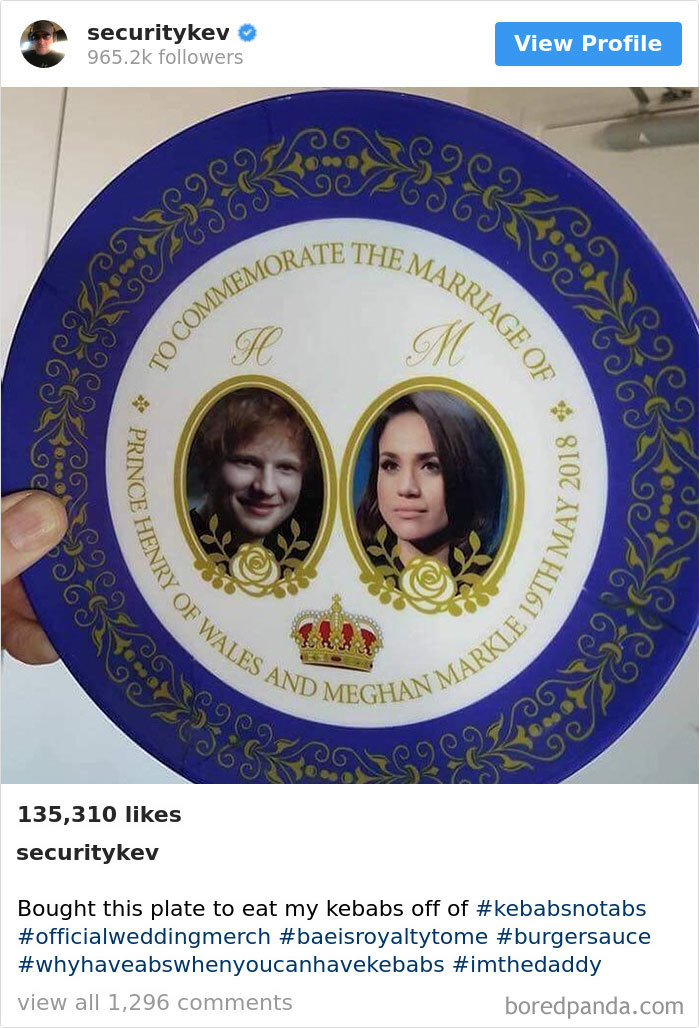 Bought This Plate To Eat My Kebabs Off Of #kebabsnotabs #officialweddingmerch #baeisroyaltytome #burgersauce #whyhaveabswhenyoucanhavekebabs #imthedaddy