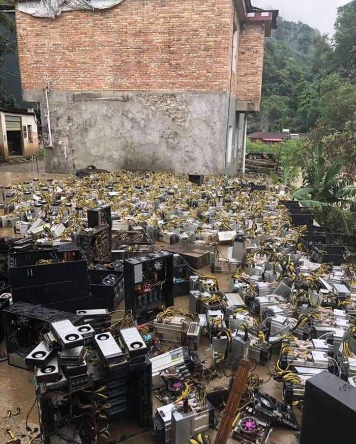 Bitcoin Mining Farm Gets Flooded