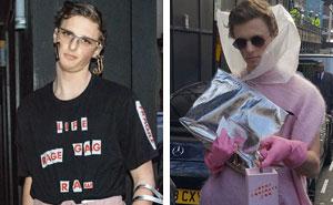 Este hombre se vistió de la forma más estúpida posible para la Semana de la Moda de Londres, y le saludan como si fuera un modelo famoso