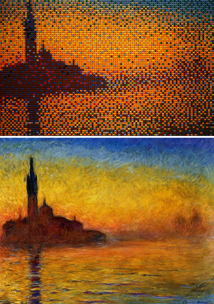 Claude Monet's Sunset In Venice By Nathan Sawaya