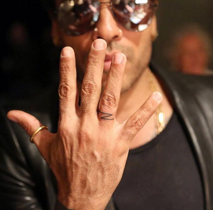 A Finger Tattoo Made For Lenny Kravitz. Z Is For Zoë Kravitz