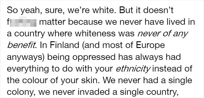Someone Blames Finland's Success On Being 'All White' And Colonialist, Gets Shut Down With A History Lesson