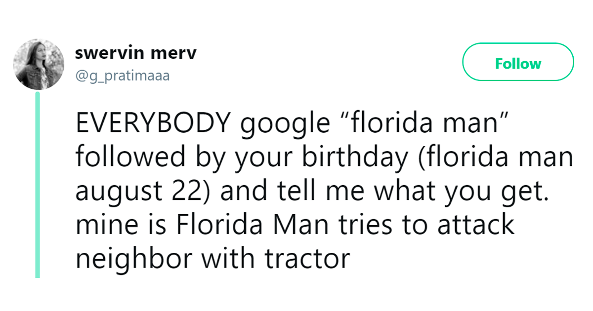'Florida Man Horoscope' Challenge Is Going Viral And People Are Posting Their Hilarious Google Results
