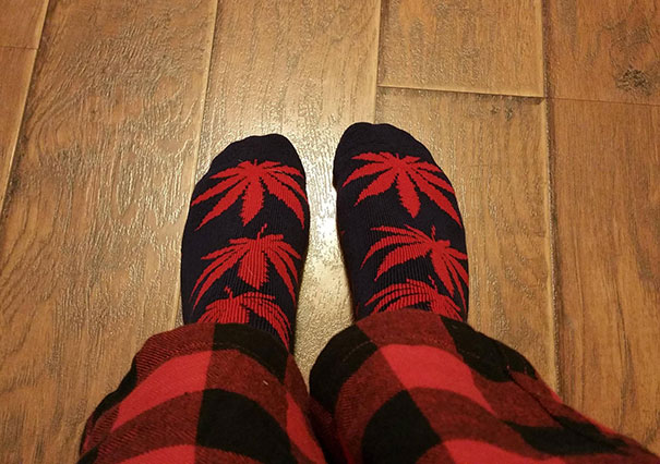 My Wife Thought She Bought Me Socks With Palm Trees On Them. Bless Her Heart, She Had No Idea