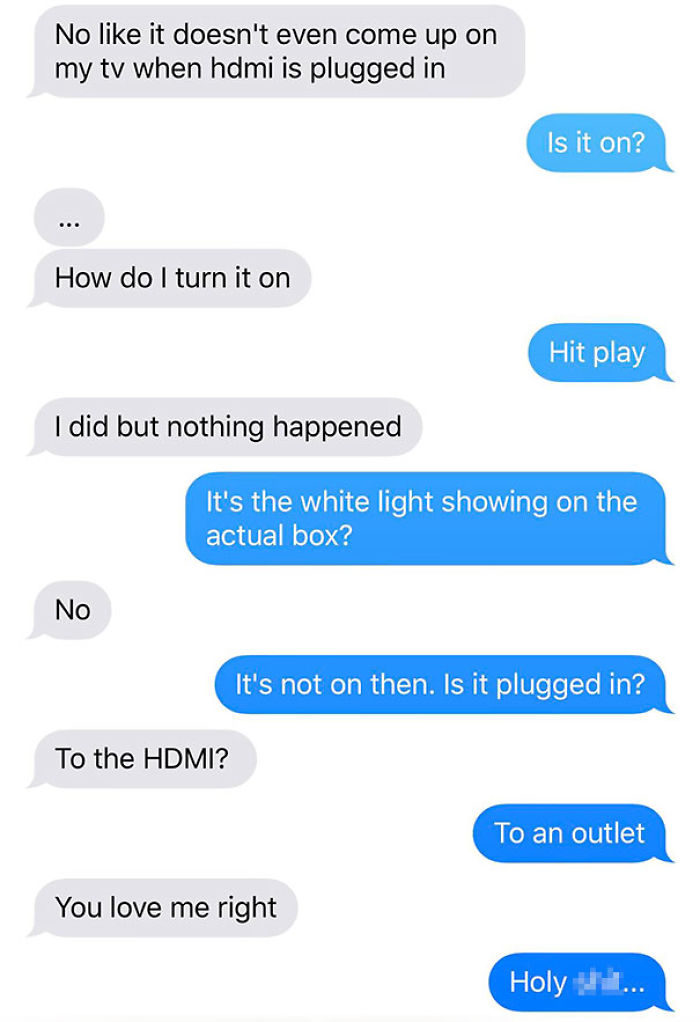 My Girlfriend Moved Into Her Dorm Yesterday And Was Having Trouble Setting Up The Apple TV I Bought Her...