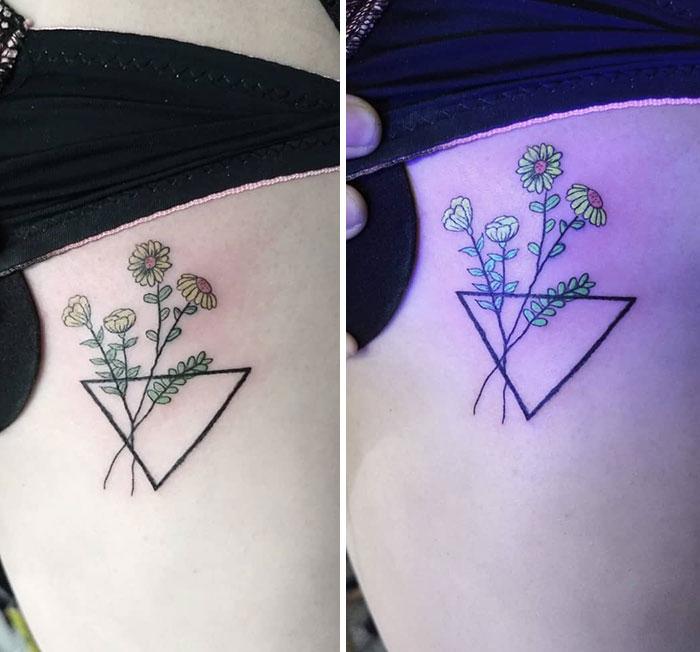 Floral UV Tattoo Piece