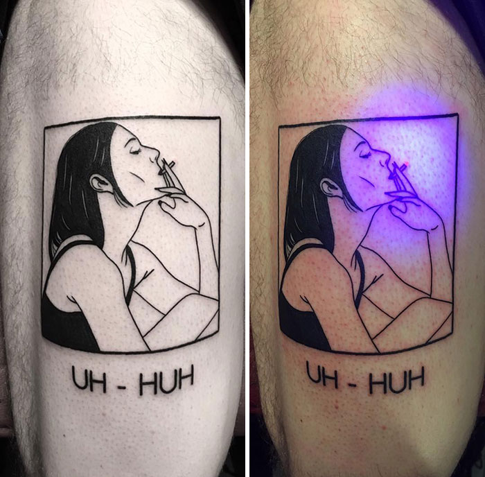 Really Smart Use Of UV Ink In This Glowing Tattoo
