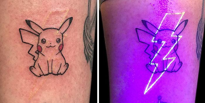 Pikachu Glowing In A Black Light
