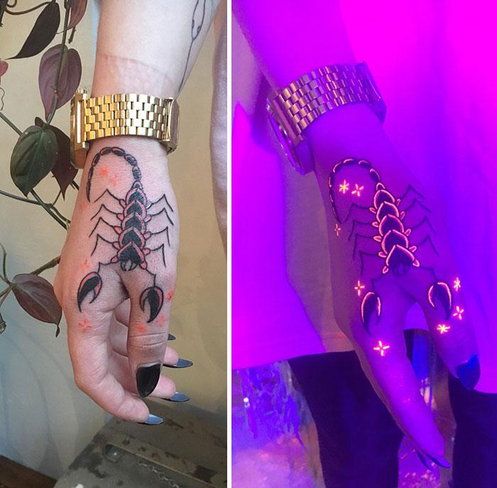 New Favorite Black Light Hand Tattoos
