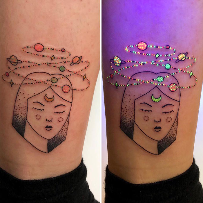 Really Enjoyed Tattooing This Glow In The Dark Tattoo