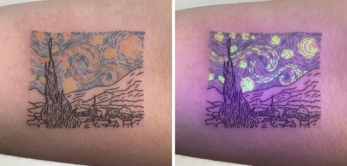 41 UV Tattoo Designs To Make Your Day Brighter