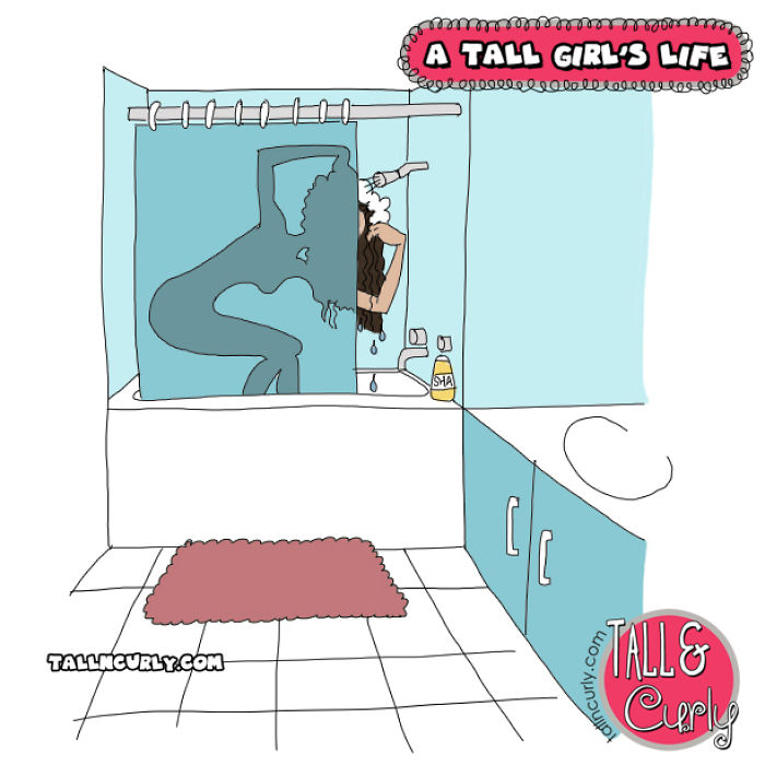 A Tall Girl's Life: Taking A Shower At Some Friends' Place