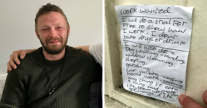 Marvelous After Homeless Man Writes A Note Saying He Could Work For Interior Design Ideas Inesswwsoteloinfo