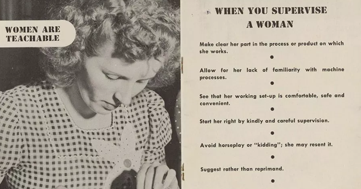 This 1940s Manual Teaches Men How To Supervise Women In Any Workplace