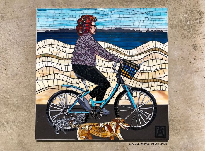 Neighbor Is Muse For Mosaic Art I Created
