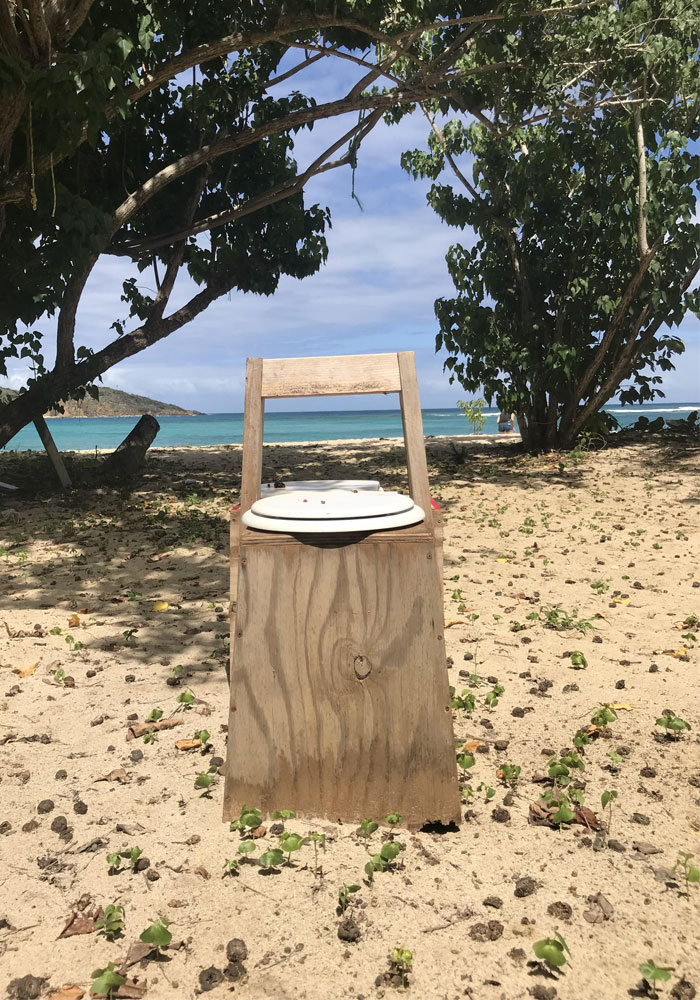 Open Toilet In The Middle Of The Beach In The Caribbean