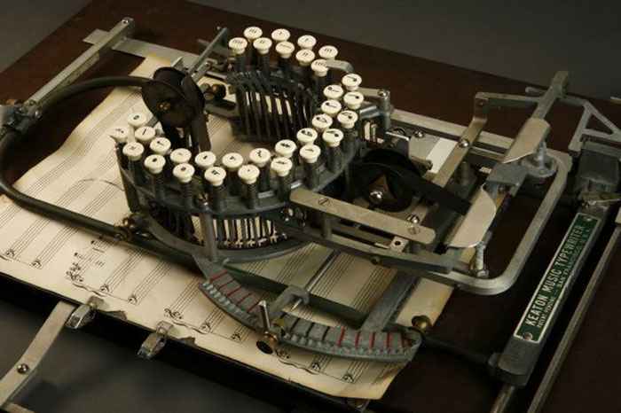 This Is A Music Typewriter From The 1950s, Only A Handful Are Left Today
