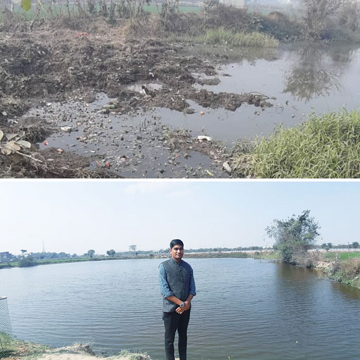 A 26 Y.O Man In India Is Changing The World By Example As He Revives Dead Lakes