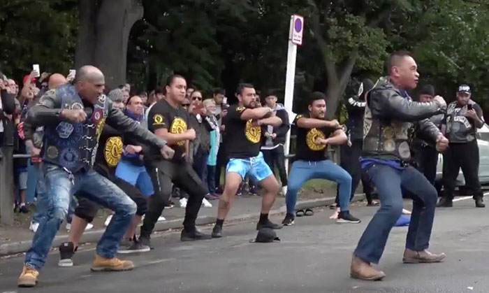Biker Club Pays Respects To The Christchurch Victims By Performing