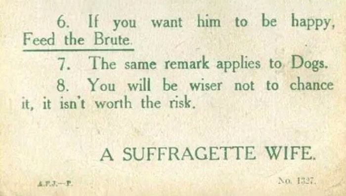 Marriage Advice To Young Ladies From 1918 By A Suffragette Is Radical And Hilarious At The Same Time