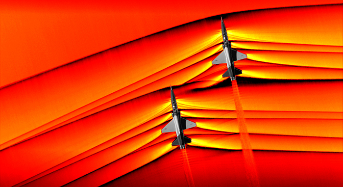 NASA Captures Images Of Supersonic Jet Shockwaves And They Are Mesmerizing