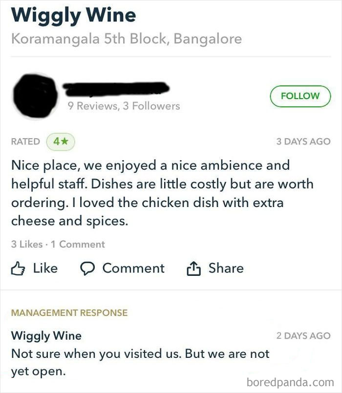 Restaurant Calls Out Bs Review.