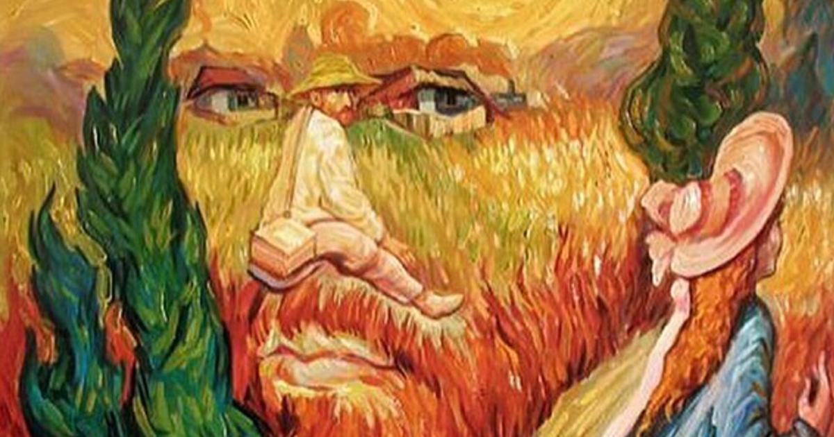 illusion optical oleg paintings shuplyak shupliak mind twisting