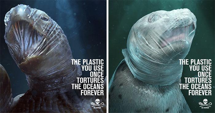 Esta impactante campaña usa imágenes gráficas para señalar el daño que hacen los plásticos a la fauna marina